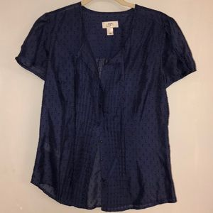 Navy SS Button Up